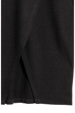 Ribbed jersey skirt - Black - Ladies | H&M CN 3