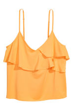 Flounced strappy top - Orange - Ladies | H&M 2
