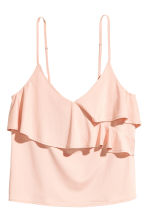 Flounced strappy top - Powder pink - Ladies | H&M CN 2