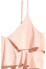 Flounced strappy top - Powder pink - Ladies | H&M CN 3