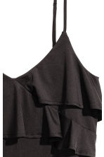 Flounced strappy top - Black - Ladies | H&M 3