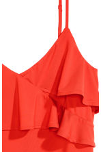 Flounced strappy top - Red - Ladies | H&M CN 2