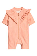 Swimsuit with UPF 50 - Apricot/Spotted - Kids | H&M 1