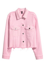 Denim jacket - Light pink - Ladies | H&M CN 2