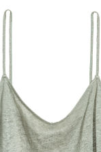 Linen strappy top - Dusky green - Ladies | H&M 3