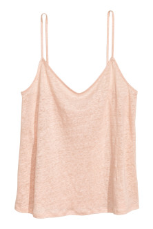 Linen strappy top