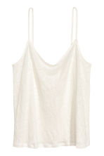 Linen strappy top - White - Ladies | H&M 2