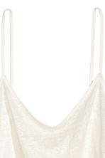 Linen strappy top - White - Ladies | H&M 3
