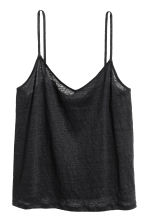 Linen strappy top - Black - Ladies | H&M CA 2