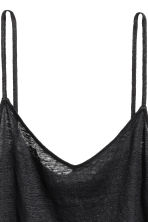 Linen strappy top - Black - Ladies | H&M CA 3
