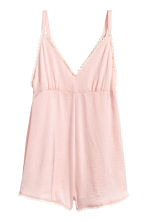 Satin playsuit - Powder pink - Ladies | H&M CN 2