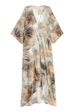 Patterned kaftan - Natural white/Leaf - Ladies | H&M 2