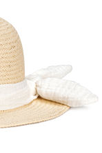 Straw hat - Natural -  | H&M 3