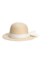 Straw hat - Natural - Kids | H&M 1