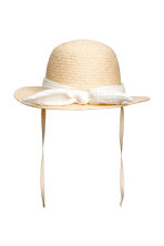 Straw hat - Natural -  | H&M 2