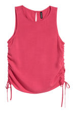 Sleeveless top - Raspberry red - Ladies | H&M CN 2