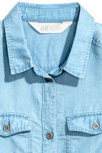 Twill tunic - Light denim blue -  | H&M CN 3