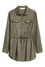 Twill tunic - Khaki green - Kids | H&M CN 2