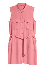 H&M+ Sleeveless shirt dress - Pink - Ladies | H&M CN 2