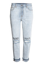Boyfriend Low Ripped Jeans - Pale denim blue - Ladies | H&M 2