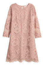 Short lace dress - Powder pink - Ladies | H&M CN 2