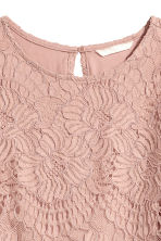 Short lace dress - Powder pink - Ladies | H&M CN 3
