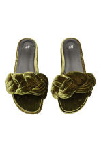 Slides - Khaki green - Ladies | H&M 2