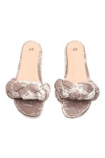 Slippers - Lichttaupe - DAMES | H&M BE 2
