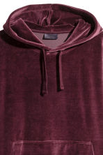 Velour hooded top - Burgundy - Men | H&M 2