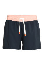 Sports shorts - Dark blue/Powder - Ladies | H&M CA 2