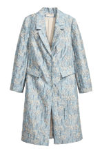 Jacquard-patterned coat - Light blue/Patterned - Ladies | H&M CN 2