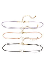 3-pack chokers - Multicoloured - Ladies | H&M 1