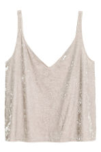 Crushed velvet strappy top - Light mole - Ladies | H&M 2