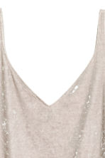 Crushed velvet strappy top - Light mole - Ladies | H&M 3