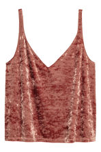 Crushed velvet strappy top - Rust - Ladies | H&M 2