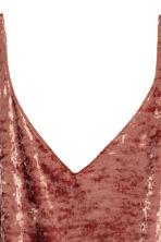Crushed velvet strappy top - Rust - Ladies | H&M 3