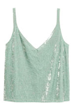 Crushed velvet strappy top - Mint green - Ladies | H&M CA 2