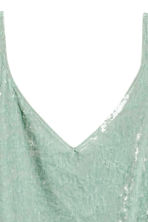 Crushed velvet strappy top - Mint green - Ladies | H&M CA 3