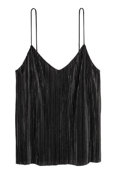 Top plissé - Noir - FEMME | H&M FR
