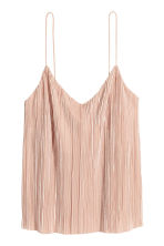 Pleated strappy top - Powder pink - Ladies | H&M CN 2
