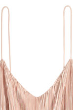 Pleated strappy top - Powder pink -  | H&M 3
