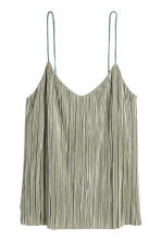 Pleated strappy top - Dusky green - Ladies | H&M 2