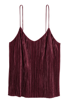 Pleated strappy top