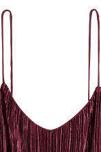 Pleated strappy top - Burgundy -  | H&M CA 3