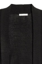 Ribbed cardigan - Black - Ladies | H&M 3