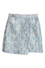 Jacquard-weave wrap skirt - Light blue/Patterned -  | H&M CN 2