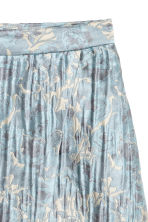 Jacquard-weave wrap skirt - Light blue/Patterned - Ladies | H&M CN 3