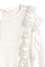 Frilled blouse - White/Striped - Ladies | H&M CN 3