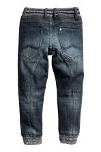 Super Soft denim joggers - Dark denim blue - Kids | H&M 2