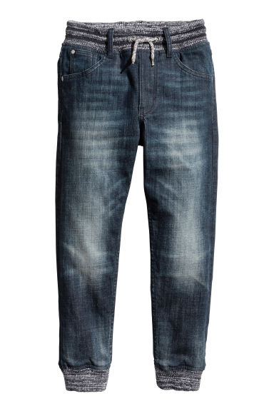 Super Soft denim joggers - Dark denim blue - Kids | H&M 1